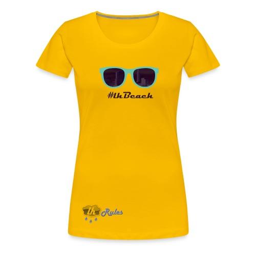 LH Rules Collector #LHBeach F rond (Jaune) - T-shirt Premium Femme