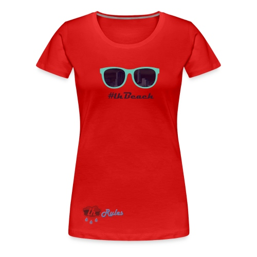 LH Rules Collector #LHBeach F rond (Rouge) - T-shirt Premium Femme