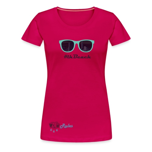 LH Rules Collector #LHBeach F rond (Rose) - T-shirt Premium Femme