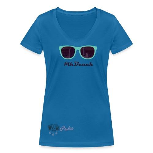 LH Rules Collector #LHBeach V rond (Bleu) - T-shirt bio col V Stanley & Stella Femme