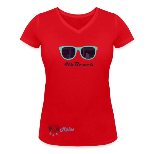LH Rules Collector #LHBeach V rond (Rose) - T-shirt bio col V Stanley & Stella Femme