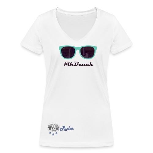 LH Rules Collector #LHBeach V rond (Blanc) - T-shirt bio col V Stanley & Stella Femme