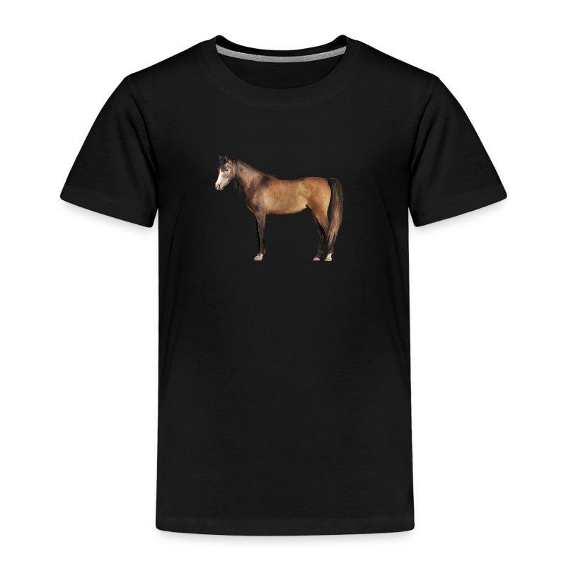 Braunes Pferdchen für Kinder, T-shirt - Kinder Premium T-Shirt