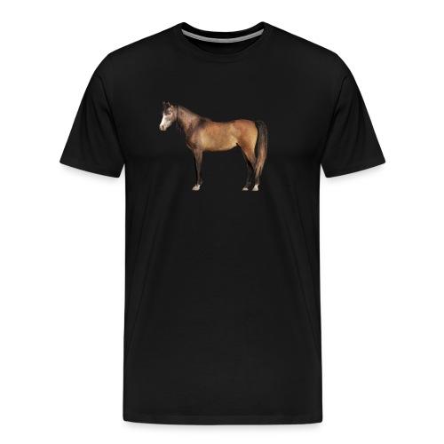 Braunes Pferd Männer T-shirt - Männer Premium T-Shirt
