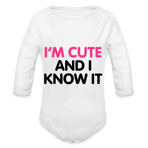 Cute baby - Organic Longsleeve Baby Bodysuit