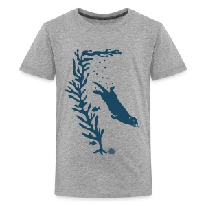sea otter kelp forest california see meer ocean T-Shirts - Teenager Premium T-Shirt