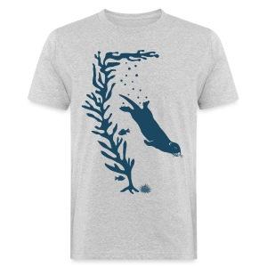 sea otter kelp forest california see meer ocean T-Shirts - Männer Bio-T-Shirt