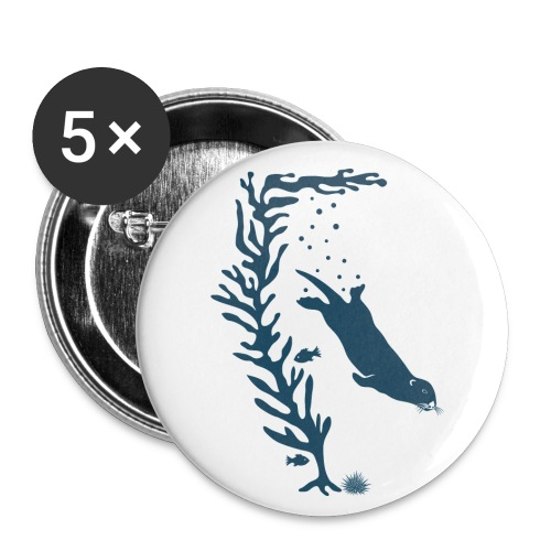 sea otter kelp forest california see meer ocean T-Shirts - Buttons groß 56 mm