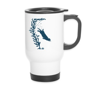 sea otter kelp forest california see meer ocean T-Shirts - Thermobecher