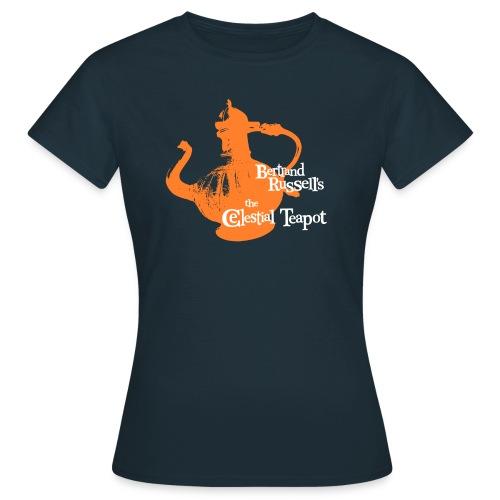 Bertrand Russell's - the Celestial Teapot  - Women's T-Shirt