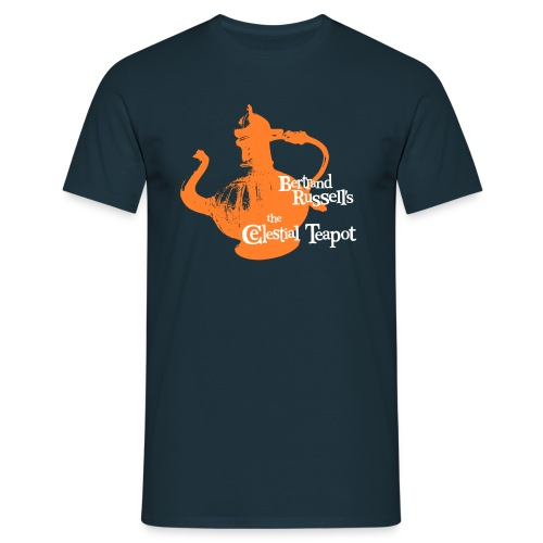 Bertrand Russell's - the Celestial Teapot  - Men's T-Shirt