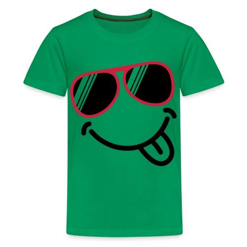 t-shirt smiley teenager - Teenager premium T-shirt