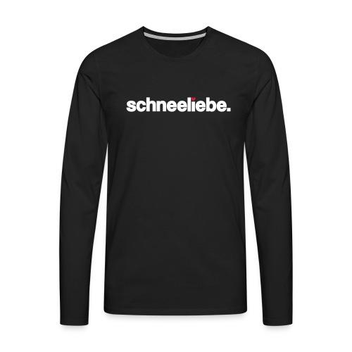 Männer Premium Langarmshirt - ★ schneeliebe. Longsleeve ★