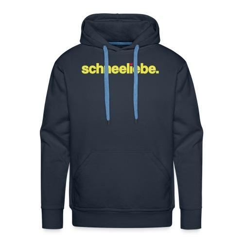Männer Premium Hoodie - ★ schneeliebe. Hoodie ★