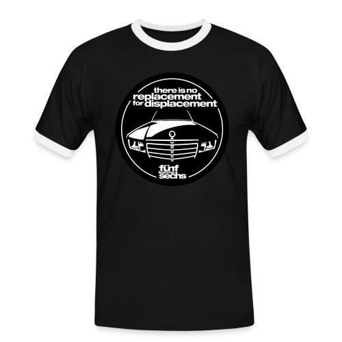 5,6 Hubraum-Shirt Herren black - Men's Ringer Shirt