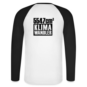 Klimawandler 560 lang - Men's Long Sleeve Baseball T-Shirt
