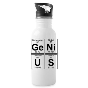 Ge-Ni-U-S (genius) - Water Bottle