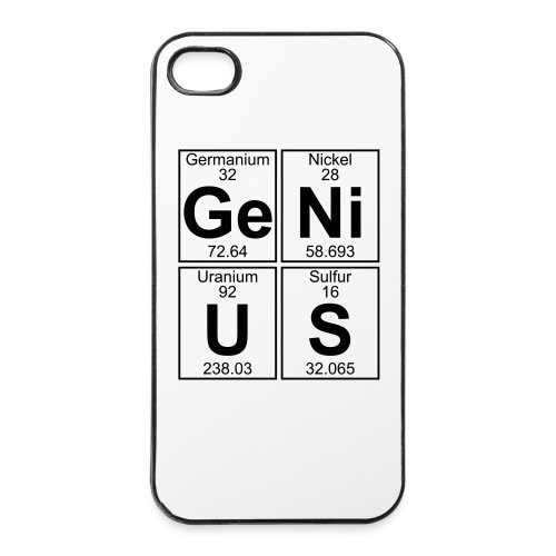 Ge-Ni-U-S (genius) - iPhone 4/4s Hard Case