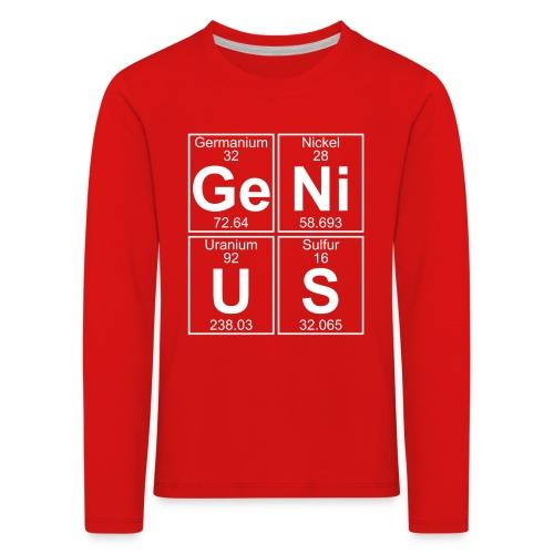 Ge-Ni-U-S (genius) - Kids' Premium Longsleeve Shirt