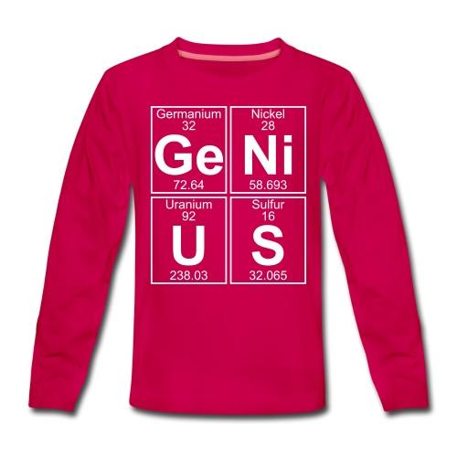 Ge-Ni-U-S (genius) - Teenagers' Premium Longsleeve Shirt