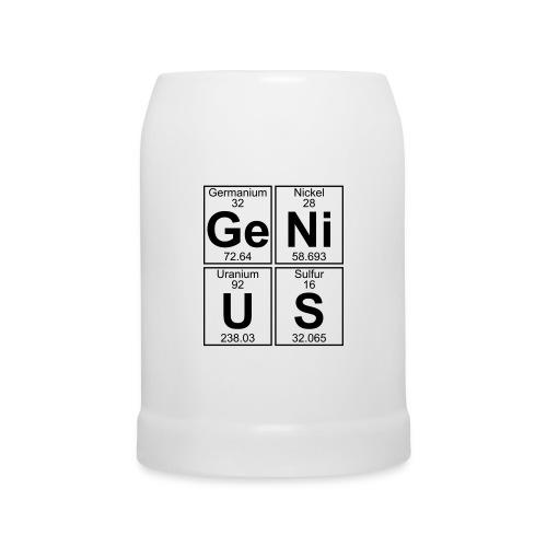 Ge-Ni-U-S (genius) - Beer Mug