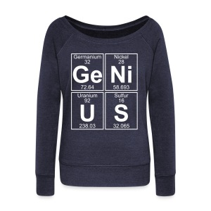Ge-Ni-U-S (genius) - Women's Boat Neck Long Sleeve Top
