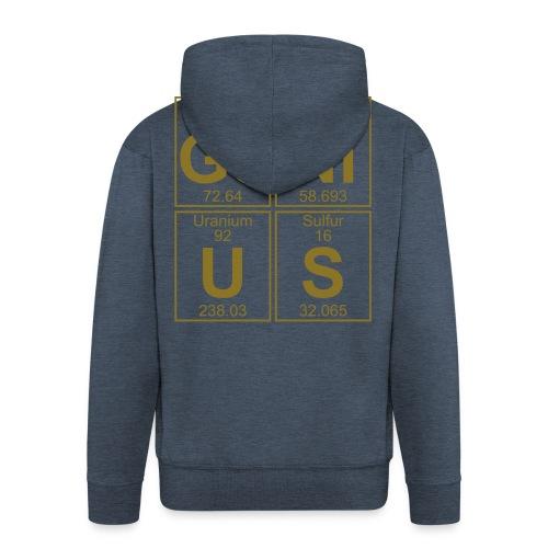 Ge-Ni-U-S (genius) - Men's Premium Hooded Jacket