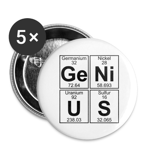 Ge-Ni-U-S (genius) - Buttons small 1''/25 mm (5-pack)