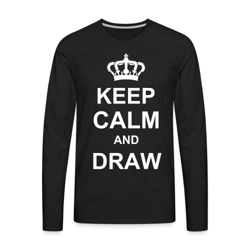 Sweat Shirt homme Keep Calm And Draw - T-shirt manches longues Premium Homme