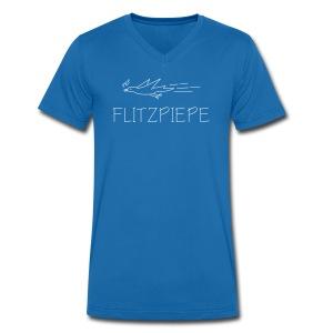 flitzpiepe vogel piep tschirp flitzen kinder depp t-shirt - Männer Bio-T-Shirt mit V-Ausschnitt von Stanley & Stella