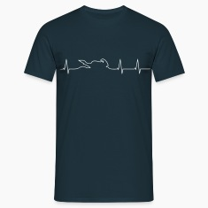 Motorcycle Biker heartbeat  T-Shirts