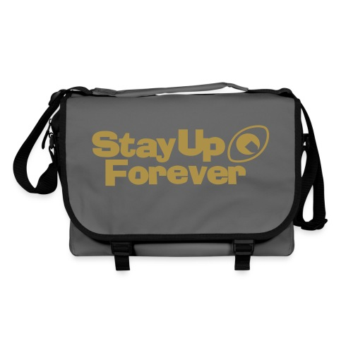 Stay Up Forever shoulder bag with metallic gold print - Shoulder Bag
