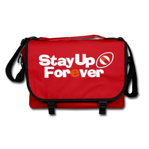 Stay Up Forever shoulder bag with white and orange print - Shoulder Bag