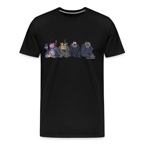 Herren-Shirt Die Affen - Männer Premium T-Shirt