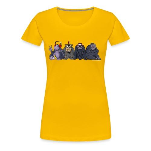 Damen-Shirt Die Affen - Frauen Premium T-Shirt