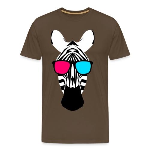 3D Zebra - Männer Premium T-Shirt