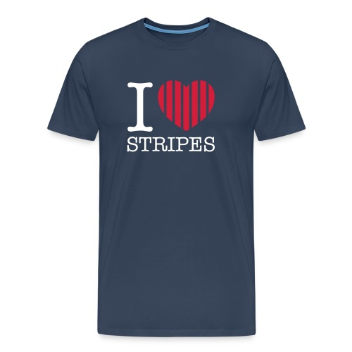 Ich liebe Streifen - Männer Premium T-Shirt
