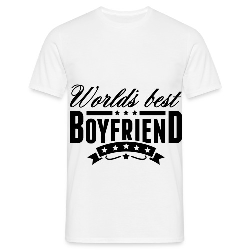 ''World's Best Boyfriend'' Black Edition - T-shirt Homme