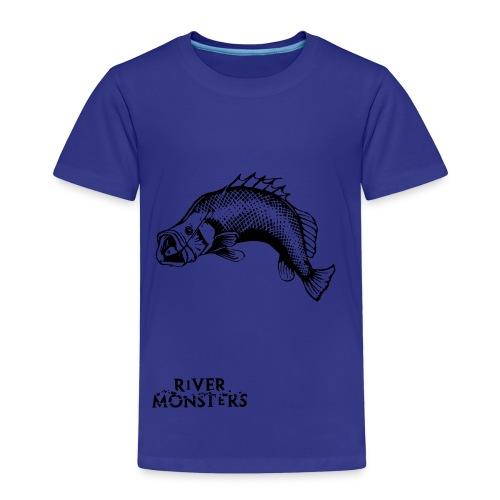 Kid's River Monsters Stencil T-Shirt - Grouper - Kids' Premium T-Shirt