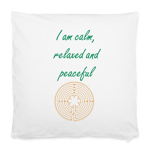 "Affirmation pillow - relax - Pillowcase 16"" x 16"" (40 x 40 cm)"