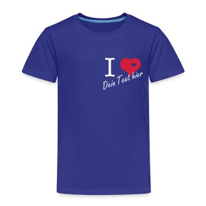 i love Skjorter - Premium T-skjorte for barn