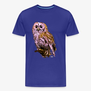 Hibou rose - Men's Premium T-Shirt