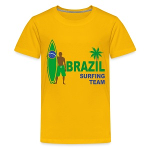 Brazil surfing team - Teenage Premium T-Shirt