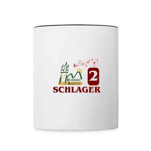 Schwany Schlager Radio - Tasse zweifarbig