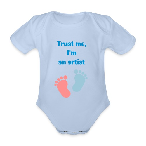 Nurture the Artist in you - Organic Short-sleeved Baby Bodysuit