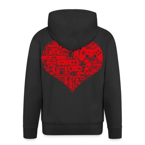 dutch customs gamer hart vest. - Mannenjack Premium met capuchon