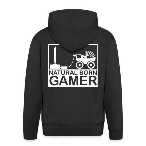 dutch customs natural born gamer vest. - Mannenjack Premium met capuchon