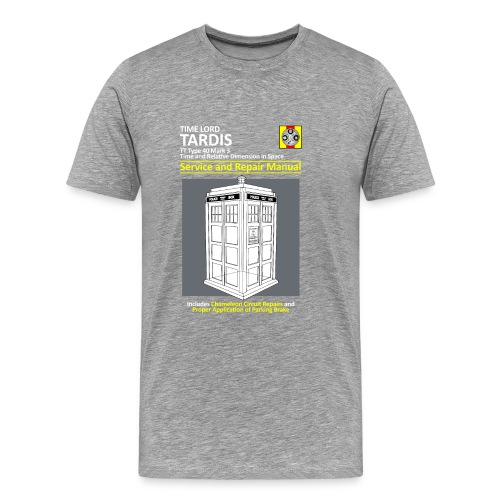 Tardis Maintenance Manual - Men's Premium T-Shirt