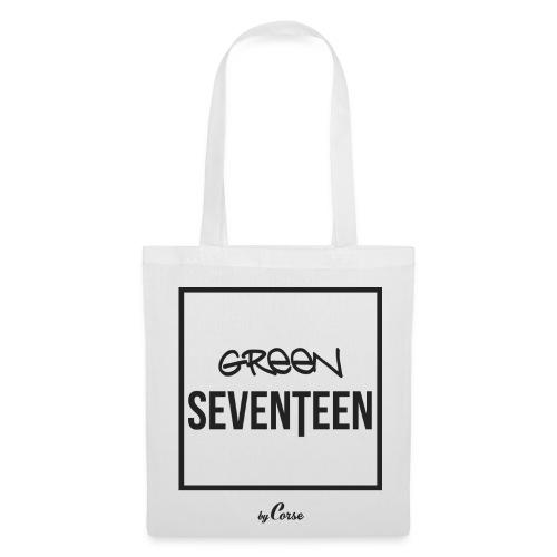 Green Seventeen White Bag - Tote Bag