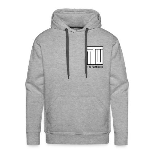 Kapuzenpulli: Logo mit schwarzer Schrift - Männer Premium Hoodie